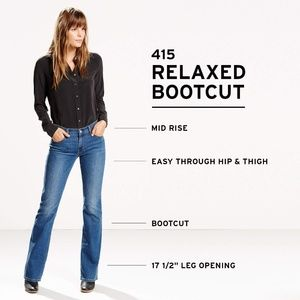Levi's 415 Classic Boot Cut Jeans